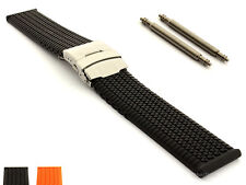 Silicone Rubber Watch Straps Band Waterproof Deployment Clasp ST 18 20 22 24mm