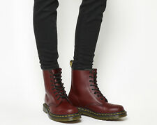 Womens Dr. Martens 8 Eyelet Lace Up Boots Cherry Red Boots