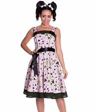 HELL BUNNY vintage DIXIE retro 50's DRESS swing PINK