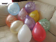 "12"" Latex Metallic Just Married Helium Quality Balloons + various other balloons"