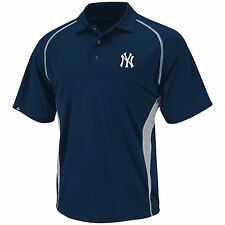 New York Yankees Athletic Advantage Polo - Navy Blue By Majestic
