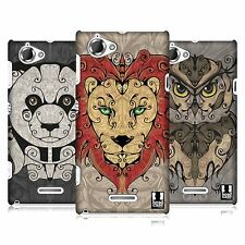 HEAD CASE DESIGNS ANIMAL SWIRLS CASE COVER FOR SONY XPERIA L C2105