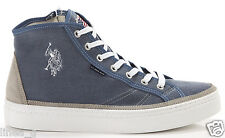 U.S. POLO Assn. high top denim S/S 14 sneakers alte in tessuto jeans P/E 2014