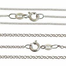 "Silver Plated Fine Curb Trace Chain Necklace 16 18 20 22 24 26 28 30"" INCH GIFT"