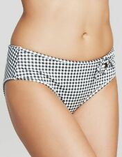 Freya Lindy Hop Black Check Low Leg Bikini Brief Bottom Black Check V Sizes NEW