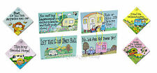 Humorous Caravan/Camping Holiday Travel themed Hanging Door Wall Window Signs