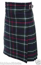 Brand New Mackenzie Tartan Kilt with Two Buckle Scottish Highland Thistle KILT