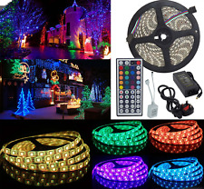 5M/10M 3528 SMD 150/300/600 LEDs RGB Waterproof Flexible Strip Lights IR/Adapter