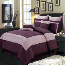 Wendy Purple Luxury Comforter Set (8-Piece, Available in 5 Sizes)
