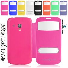 SAMSUNG GALAXY S3 i9300 & S3 MINI I8190 S VIEW FLIP CASE COVER + FREE POST