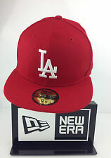 New Era Caps Los Angeles 59Fifty Baseball Cap Authentic Red/White