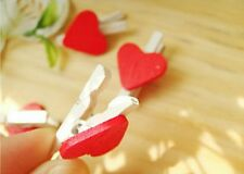 shabby but chic red heart pegs love weddings photos, memory marker free gift bag