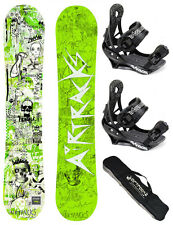 SNOWBOARD SET AIRTRACKS TABLA HIGHER+FIJACIONES SAVAGE+BAG /150cm 155cm/ NUEVO