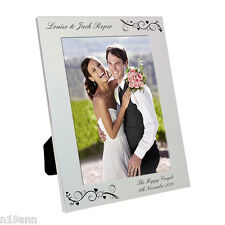 NEW PERSONALISED ALUMINIUM PHOTO FRAME CHOOSE FROM 6 DESIGNS CHRISTMAS FREE P&P