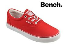 Bench Canvas Shoes, Womens Girls Bench Oxford Canvas Pumps Plimsolls Red