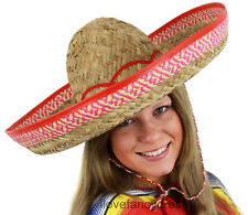 MEXICAN SOMBRERO LADIES STRAW HAT WILD WEST HOLIDAY FANCY DRESS ADD ACCESSORIES