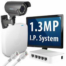1x 1.3 Megapixel HD 960p 25fps Realtime Optical Zoom IP Camera 4 CH Security Kit
