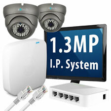 2 x 1.3 Megapixel HD 960p 25fps Realtime Nightvision IP Camera 8 CH P2P CCTV Kit