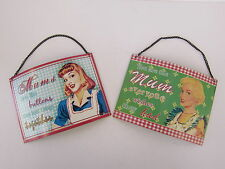 LESSER AND PAVEY METAL MUM PLAQUE RETRO STYLE (2 DESIGNS) LP24190 LP24195