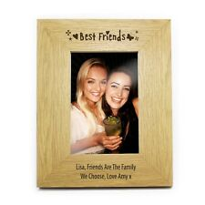 PERSONALISED WOODEN PORTRAIT PHOTO FRAME CHOOSE FROM 6 DESIGNS 2 SIZES GIFT