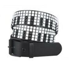 5 ROW PIANO KEYS DESIGN STUDDED BELT - Black & White 2 Sizes Retro Belts