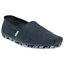 New Mens Toms Blue Earthwise Classic Textile Shoes Canvas Slip On