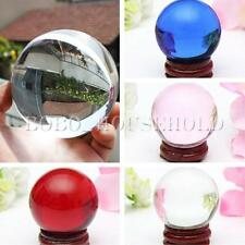 Asian Rare Natural Quartz Magic Crystal Healing Ball Sphere 20-60mm with Stand