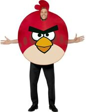 ADULT RED ANGRY BIRD COSTUME GAME GAMER FANCY DRESS OFFICIAL ANGRY BIRDS SUIT