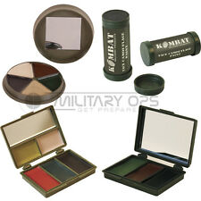 ARMY CAMO FACE PAINT + MIRROR MTP MULTICAM COLOUR MILITARY BLACK BROWN GREEN SAS