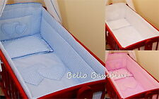 Nursery All round Crib Bumper / Paded/ to fit Cradle Swingging Crib 100% COTTON