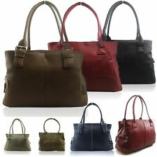 New Ladies Girl Faux Leather Shoulder Handbag Work Women Hobo 3 Compartments