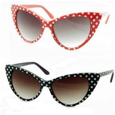 VTG 50s/60s Style Polka Dot Cats Eye Sunglasses Rockabilly Pin Up NEW/BNWT
