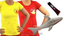 LADIES SHARK ATTACK COSTUME HALLOWEEN ZOMBIE LIFEGUARD FANCY DRESS BEACH WATCH