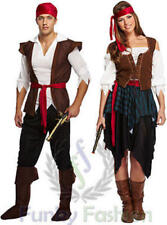 ADULTS MENS LADIES PIRATE CARIBBEAN FANCY DRESS BUCCANEER COSTUME OUTFIT