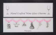 Fairytale Set of Wine Glass Charms Birthday Wedding Gift Christmas Hen Party