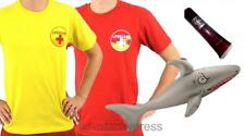 MENS SHARK ATTACK COSTUME HALLOWEEN ZOMBIE LIFEGUARD FANCY DRESS BEACH WATCH