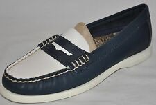 SPERRY TOP-SIDER Hayden Navy Blue & Ivory Penny Loafers Size 5.5 NEW!