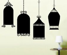 Bird Cage Chalkboard Stick On Chalk Board Vinyl Sticker Wall Art Hanging Chain