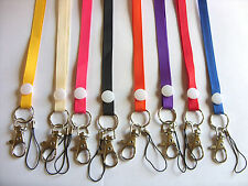 Plain Neck Strap Lanyard Event ID Card Badge Holder School Office  Mobile Phone
