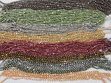 5-6MM  Nugget Baroque Freshwater Pearls Beads various colours 1 Strand 15.8''