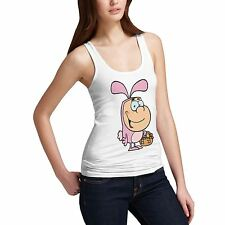 Womens Cotton Novelty Funny Design  Easter Bunny Tank Top