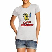 Twisted Envy Women's Can You Beer Me Now Funny T-Shirt