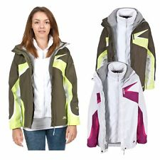 Trespass Dali Womens 3 in 1 Fleece Jacket Winter Waterproof Rain Coat for Ladies