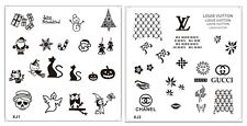 Konad Styled XMAS HALLOWEEN NAMED Stainless Steel Image Plate Nail Art Stamping