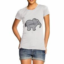 Women Funny Joke Design Cute Baby Elephant T-Shirt