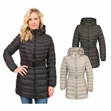 Trespass SNOWGLOBE Womens Ladies Down Jacket Hooded Long Casual Coat