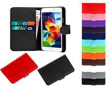 Book Flip Leather Wallet Cover Pouch Case Slots For Huawei Ascend G700 U8950 UK