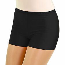 Girl's/Ladies' Roch Valley Nylon Lycra Hot Pants in Black (RVHOT)