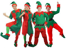 ADULT ELF COSTUME LADIES MENS CHRISTMAS FANCY DRESS ELVES XMAS SANTA'S HELPER