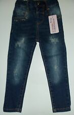Baby Girls Pull Up Jeans with Elasticated back
